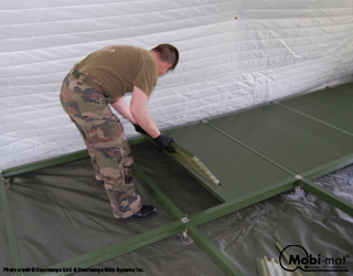 Tentfloor™: shelter and tent stabilization and insulation