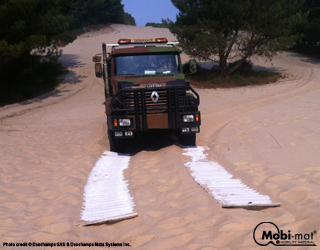 Traction-mat™: vehicle crossing and recovery gears