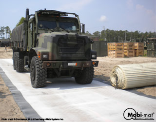 Campfloor™: deployable camp pathway and roadway